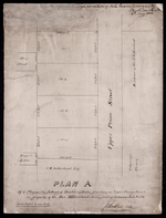 Plan A. Of 4 Pleasantly Situated Building Lots, fronting on Upper Prince Street, The property of the Hon. T. H. Haviland; being part of Common Lot No. 24.