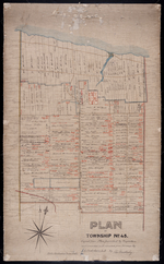 Plan of Township No. 45. Copied from Plan furnished by Proprietors, and amended and corrected from Surveys by J. C. Underhay L. S., by Thos. MacKinlay