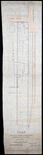 Plan Shewing the situation of Water Lot No. 8, and that part of Water Lot No. 7 conveyed to Ronald MacMillan.