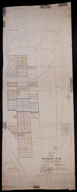 "Plan ""B"" part of Township No. 33. as divided amongst the Children of the late Alfred Winsloe Esqre., by H. J. Cundall 11th June AD 1872."