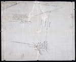 Plan of a proposed new line of road from Middleton Road to Isaac Ive's Millas coloured brown connecting with the road already opened from Searletown to Ives' mill thro. part of Lot 27.
