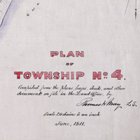 Plan of Township No. 4: Compiled from the plans, leases, deeds, and other documents on file in the Land Office, by Thomas W. May